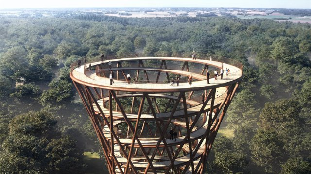 В Дании построят спиралевидный небоскреб из дерева