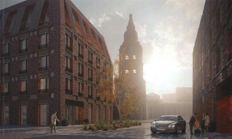 Гостиницу с наклонными внутрь фасадами построят в Тверском районе