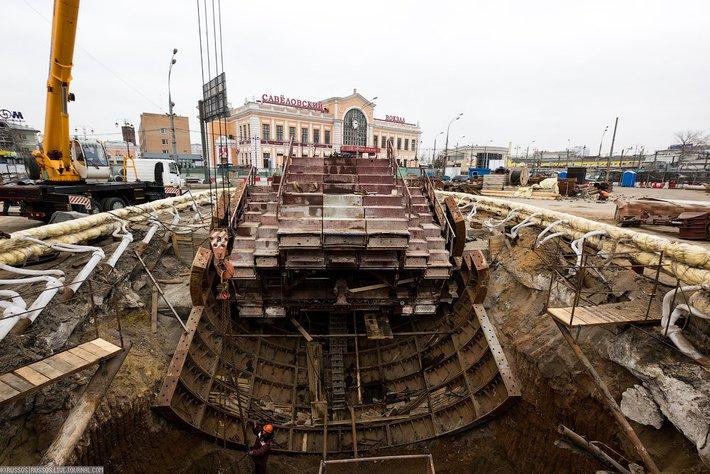 Строительство метро у Савеловского вокзала не стали останавливать из-за ЧП