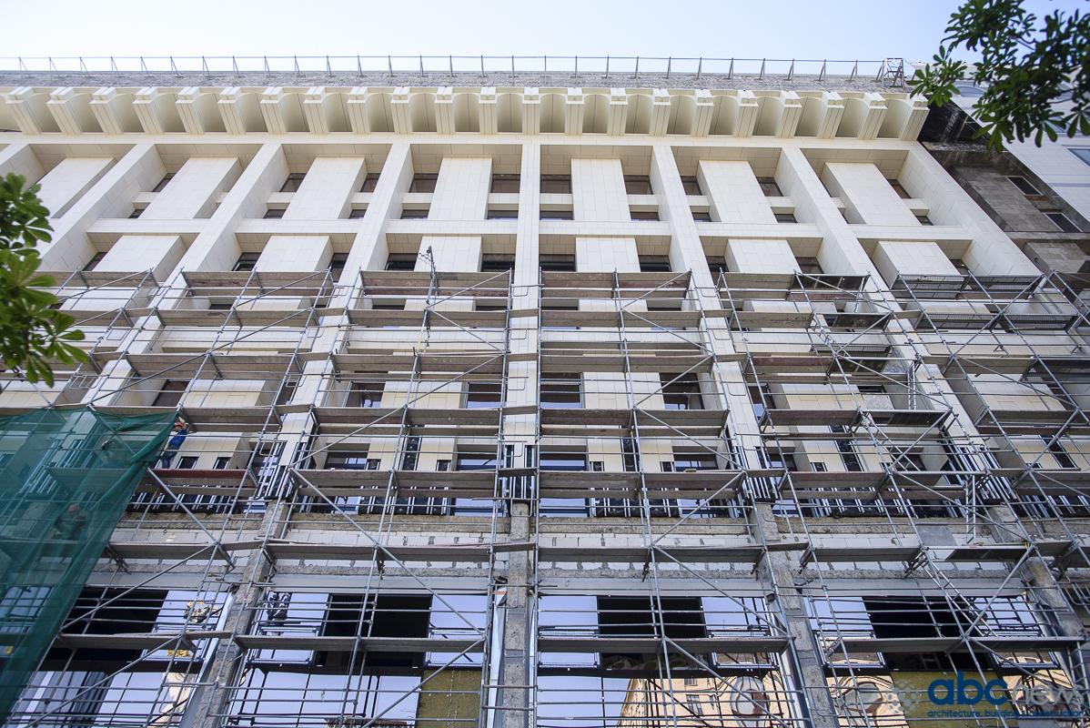 Как выглядит обновленный фасад  Дома профсоюзов в Киеве (Фото)