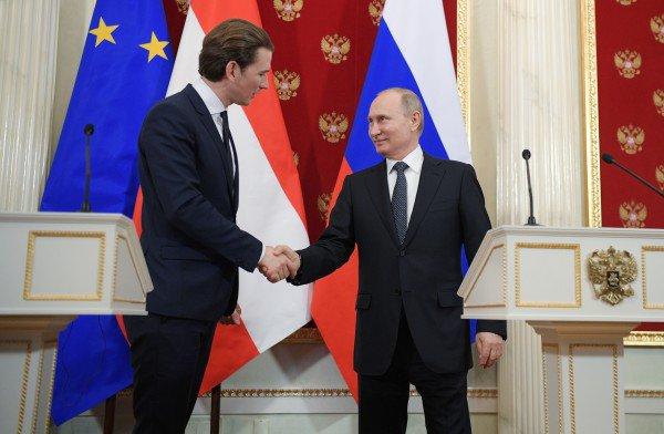 Путин обсудит с канцлером Австрии амбициозный проект железной дороги