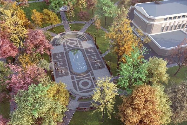 Фонтан, амфитеатр, лестницы — каким станет Сквер Оперного театра в Екатеринбурге?