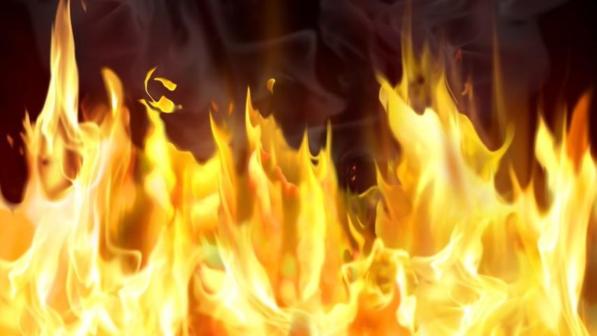 В центре Киева загорелся киоск