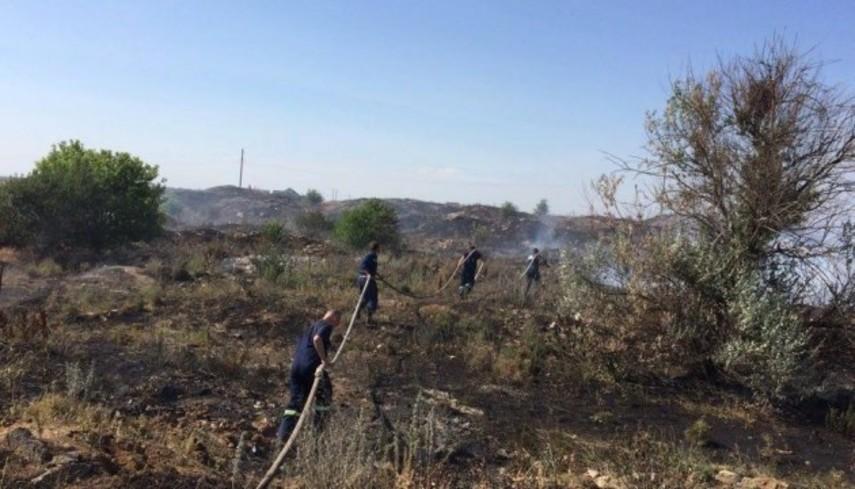 В Николаевской области уже второй день горит свалка
