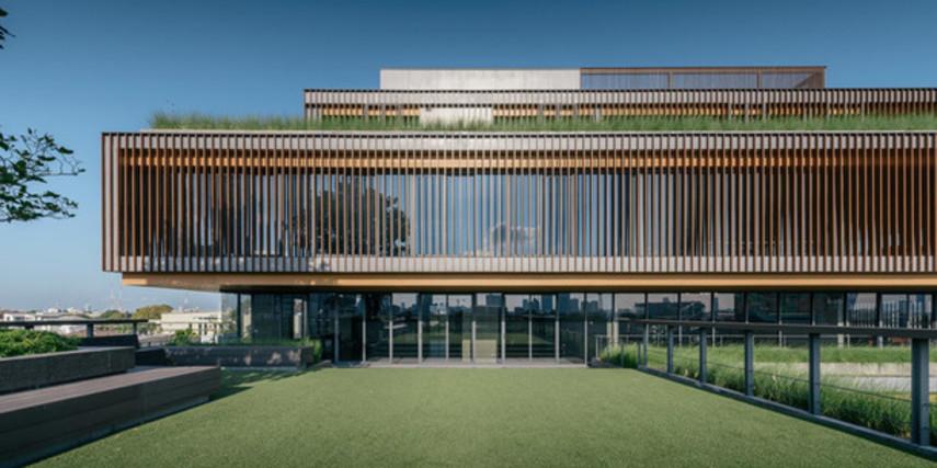 Офисное здание, имитирующее рисовые поля (Фото)