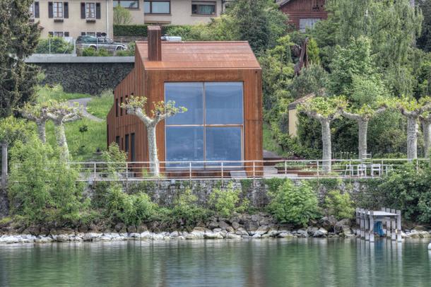 Уникальный дом с видом на Женевское озеро (Фото)
