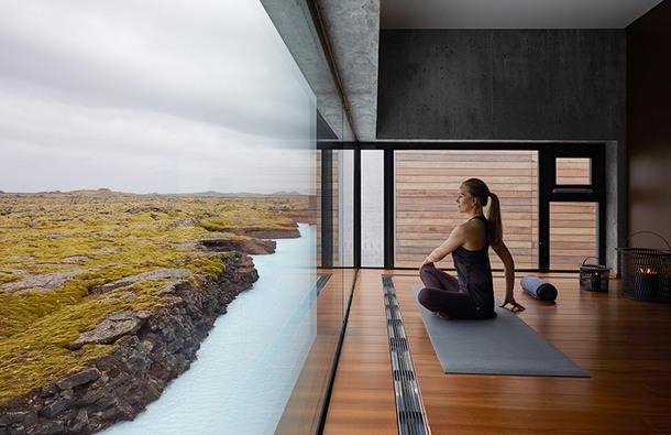 Минималистичный отель в Голубой лагуне Исландии (Фото)