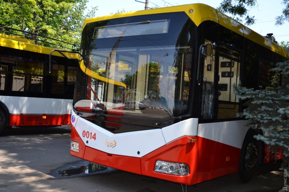 В Одессе появились новые белорусские троллейбусы (Фото)