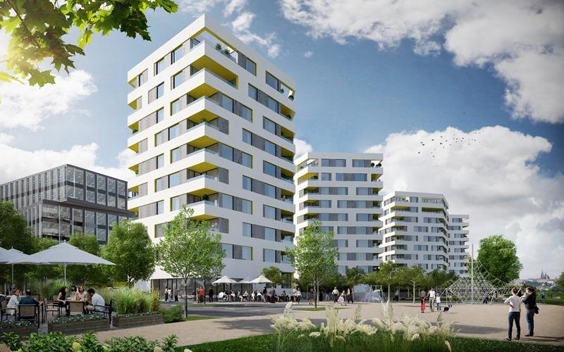 В Праге начали строить новый жилой район (Фото)