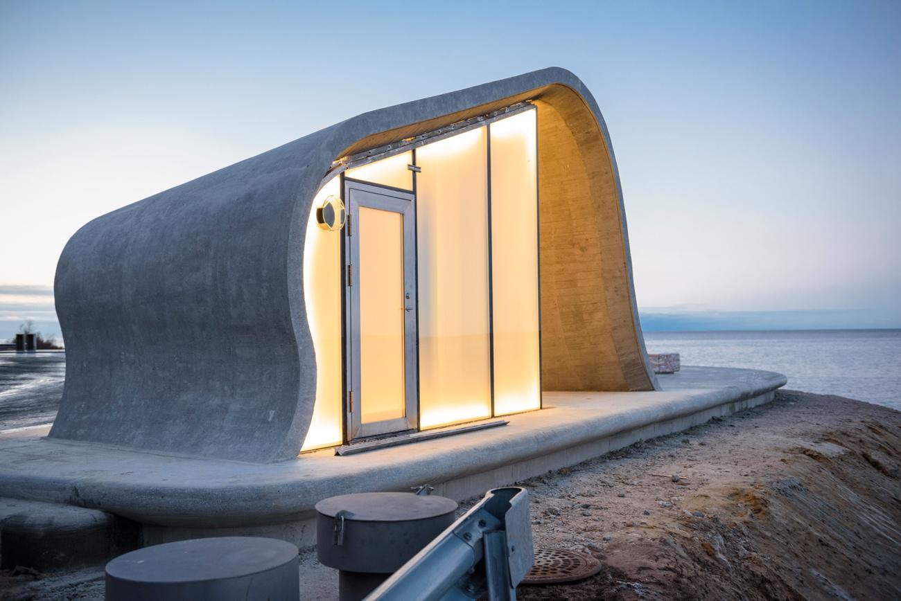 Туалет-волна из стекла и бетона в Норвегии (Фото)