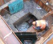 Реконструкцию канализационного коллектора на улице Зодчих завершили