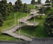 Отремонтированную лестницу на Пейзажной аллее откроют на следующей неделе