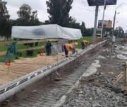Несущие конструкции путепровода на Елены Телиги не повреждены