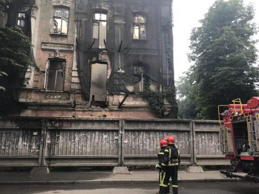 пожар в историческом здании