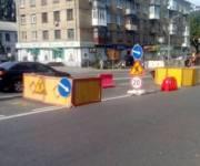 В Соломенском районе ограничили движение из-за аварии на коллекторе