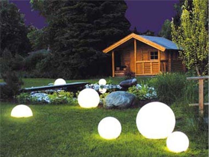 Уличные светильники в форме шара – востребованный товар