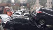 Масштабная авария на Леси Украинки парализовала центр Киева