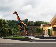 На входе в зоопарк установят скульптуру жирафа, высотой в пятиэтажный дом