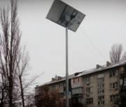 В столице появились фонари на солнечных батарейках
