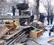 В Киеве снесли рынок