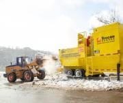 В столице заработала снегоплавильная установка