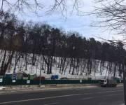 Уже начали монтировать стройплощадку для сооружения метро на Виноградарь