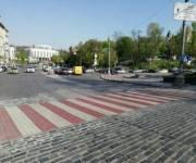 На улице Грушевского появился новый пешеходный переход
