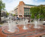 В столице заработали фонтаны