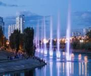 На Русановке отключили фонтаны