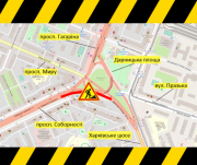 На Дарницкой площади ограничат движение