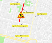 На улице Пушкинской ограничили движение на полтора месяца