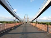 Пешеходный мост на Труханов остров безопасный для пешеходов