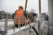 На Шулявском мосту продолжают строительство (новые фото)