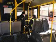 Пассажиропоток в общественном транспорте в Киеве контролируют правоохранители