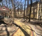 В Соломенском районе обустраивают сквер