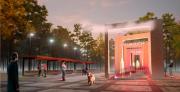 Световой пешеходный фонтан появится в парке Партизанской славы
