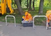 В Киеве построили новые велопарковки