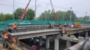 Движение на Борщаговском мосту восстановят в начале сентября (фото)