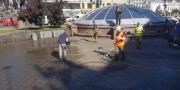 Бессарабскую площадь в Киеве отмыли от грязи