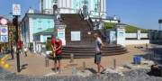 Андреевскую церковь отгородили от авто