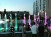 Возле станции «Оболонь» заработал новый фонтан (видео)