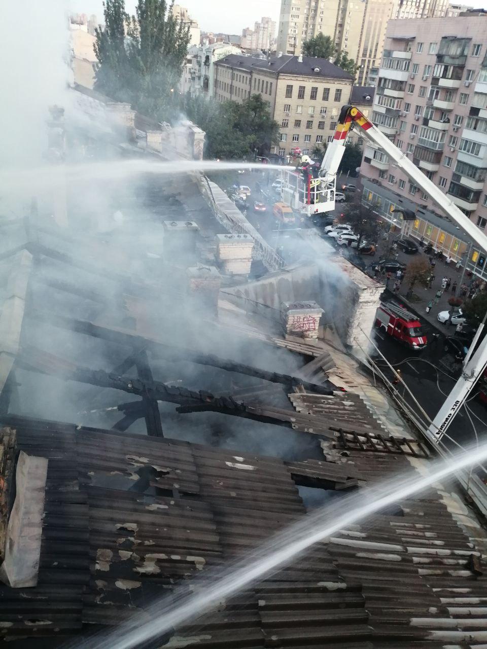 Пожар в Киеве – горел дом возле костела св. Николая