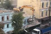 Застройщик без согласования снес здание в центре