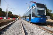Киевлянам показали новые фото реконструкции остановок скоростного трамвая