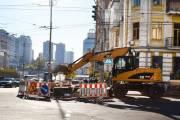 В центре Киева ремонтируют тепломагистраль