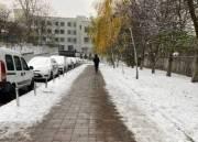 В Соломенском районе появились «теплые» тротуары (фото)