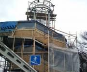 Начался ремонт пешеходного моста на Столичном шоссе вблизи автоцентров (фото)