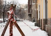 Киевлян предупредили о падении сосулек и попросили сообщать об опасных