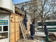 В Святошинском районе убирают МАФы