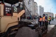 Киевлянам показали видео того, как ремонтируют улицу Мислославскую